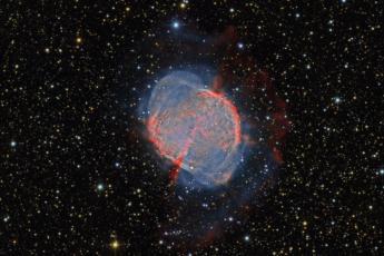 M27 - Туманность Гантель (RGB/Ha/OIII)