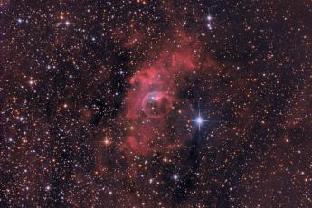 NGC7635 - Туманность Пузырь (RGBHa)